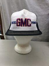 trucker hat baseball cap Vintage Snapback Mesh Retro Small Medium GMC diesel
