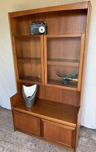Retro Teak Glazed Wall Unit - William Lawrence - Bookcase - Vintage