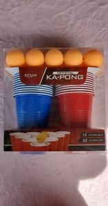 Majik Ka-Pong Multiplayer Party Game, 22 Cups and 15 Balls New Official Beerpong