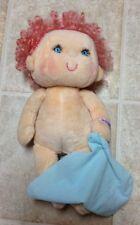 Vtg Kenner Hugga Bunch Huggins Pink Hair Blue Eyes Plush 1985 Doll Purple