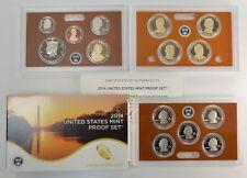 2014-S Proof Set Dollar Half State Quarters Nickel Cent US Mint 14 Coins w/Box