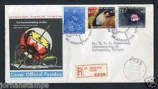 Nederlandse Antillen FDC E16 _ 4 M, met adres ; aangetekend
