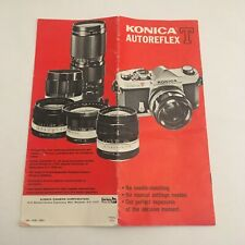 EARLY INSTRUCTIONS MANUAL LEAFLET FOR KONICA  AUTOREFLEX T CAMERA-FREE SHIP
