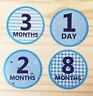 Monthly Baby Boy Stickers, Milestone Baby Stickers, Watch Me Grow (15 stickers)