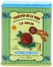 La Dalia SWEET Smoked Paprika from Spain, 2.469 Oz/70g Pimenton de la Vera Dulce