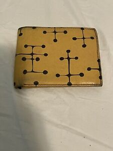 """ACME Studio """" Retro Dots Yellow"""" Leather Billfold Wallet by Charles & Ray Eames"""