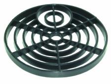 "Round Gully Grid Grate Drain Cover Downpipe Drain In Black Plastic -  6""/7"" Size"