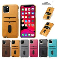 Credit Card Holder Leather Hard Case Cover For iPhone 11 Pro Max XR 8 7 6s Plus
