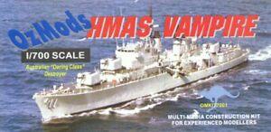 1/700 OZMODS; HMAS VAMPIRE D11 RAN Daring Class Destroyer