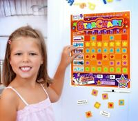 Magnetic Reward Chart for Kids | Dry Wipeable Star Chart by The Magnet Shop®