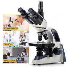 Swift 40x 2500x Trinocular Compound Microscope 3d Mechanical Stage Fine Focusing