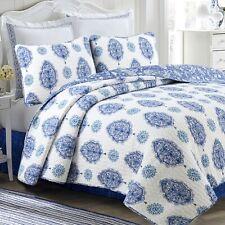 Hittle 100%Cotton 3-Piece Reversible Quilt Set, Bedspread, Coverlet