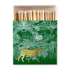 More details for whitetip long matches candle gift cheetah in jungle luxury giant square matchbox