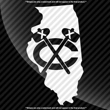 Chicago Blackhawks Illinois IL State Pride Decal Sticker - TONS OF OPTIONS