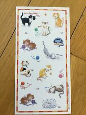 Vintage Hallmark Cats Kittens Sticker Sheet