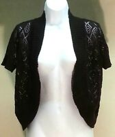 NWT $44 AGB Women's Brown Open Front Cardigan Sweater Size: M