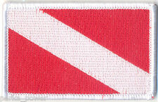 Dive Flag Embroidered Iron on Patch, Padi flag badge, scuba dive flag, divers
