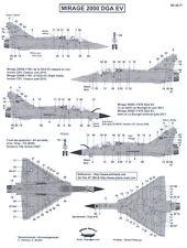 Berna Decals 1/48 DASSAULT MIRAGE 2000 DGA EV French Fighter