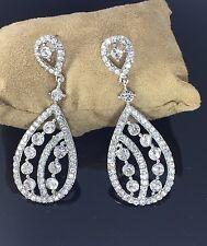 Silver Tone Crystal Style Drop Down Dangle Chandelier Earrings Fashion Design