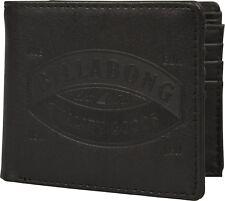 Mens Billabong Cartera. moneda de tarjeta de Unión de imitación de cuero Negro Nota Bolso 8W M01 19