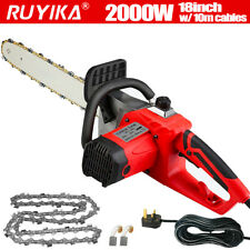 More details for 2000w 18'' electric chainsaw aluminum garden wood tool cutter saw bar & chain uk