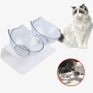 Haustier Dual Futternapf Fressnapf Katzennapf schräge für kleine Schüssel DE