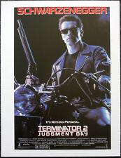 TERMINATOR 2 JUDGEMENT DAY 1991 FILM MOVIE POSTER PAGE ARNOLD SCHWARZENEGGER N34