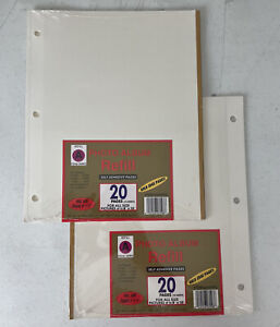 Vintage Self Adhesive Photo Album Refills F.W. Woolworth Co Refill A #340RG Gold