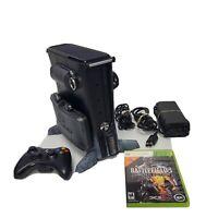 Microsoft XBOX 360 S Black Model 1439 250GB w/Battlefield 3 3D Vault Case & Game