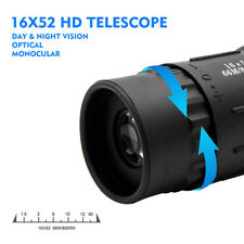 16X52 HD Day & Night Vision Optical Monocular Hunting Camping Hiking Telescope