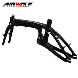 T800 Carbon Fiber Folding Bike Frame BSA Mini Bicycle Frameset for Kids Woman