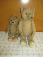 Konvolut 2 schöne alte Hermann Teddybären Teddys 40er/50er Jahre 27cm und 40cm