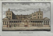 THE ADMIRALTY - Antique Hand-Colored Copper Engraving Print -  Collyer - c1790