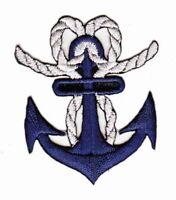 be36 Anker Blau Rockabilly Aufnäher Anchor Sailor Bügelbild Patch 4,8 x 5,6 cm