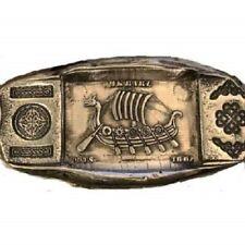 """1 Troy Oz .999 Fine Silver MK BarZ """"The Siege"""" Viking Long Ship .999 FS"""