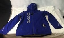Nike Hypershield Team USA Mens Running Jacket Royal Blue 806908 455 Sz L *C25*
