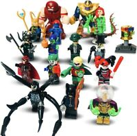 Super Hero Minifigures 17pc Set -Thanos Joker Harley Mini Figures Custom lego UK