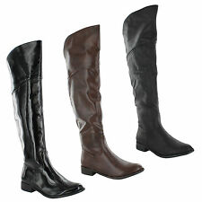 Unbranded Women's Knee High Cuban Zip Boots