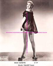 "RICKI COVETTE 6' 8"" WORLD'S TALLEST STRIPPER LEGGY IN FISHNETS 8 X 10 PHOTO S-RC"