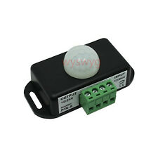 Motion Sensor Switch DC12V-24V 6A Infrared PIR Auto ON OFF For LED/Alarm Speaker