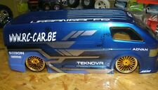 1/10 Lexan Body Toyota Hiace Karosserie (clear+decals+ accessoirs)