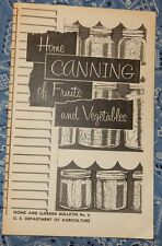 1975 Home Canning of Fruit and Vegetables USDA Bulletin