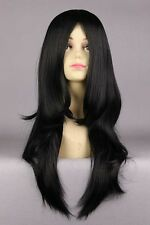 NARUTO-Orochimaru 45cm Long Black Curly Women Synthetic Lolita cosplay Full Wig