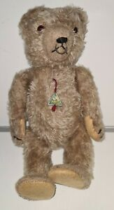 "Hermann Germany Antique Cinnamon Mohair Bear Fully Jointed 13"""