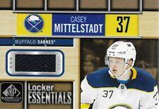 CASEY MITTELSTADT 2018-19 SP Game Used Locker Essentials Jersey Buffalo Sabres