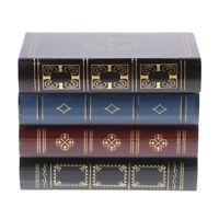 Livre en forme de boîte en bois Vintage charme porte-bijoux Stand Case