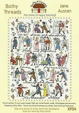 BOTHY THREADS JANE AUSTEN BOOK CHARACTERS COUNTED CROSS STITCH KIT - NEW 28x38cm