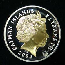 2002 Cayman Islands $2 Silver Proof Coin in Beautiful Condition (See Pics)