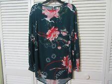 Jaase  Australian  Dress,Mini, Tunic,XS, NWT, Green, pink flowers and birds,LS