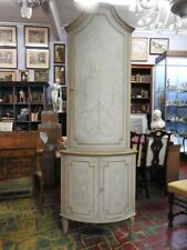 Beautiful Antique Corner Cupboard Cantonal Lacquered & Painted Period Early Xx C